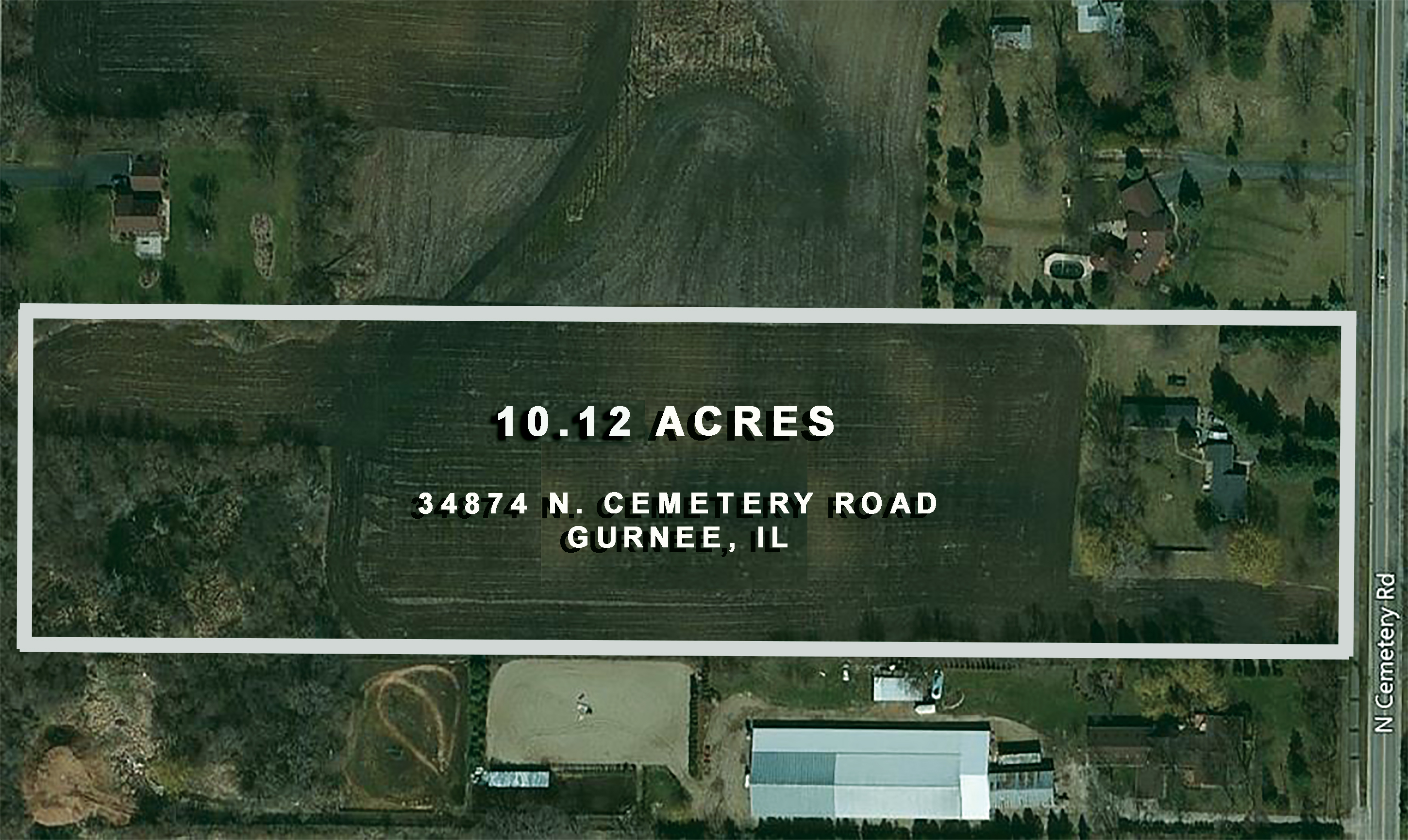10.12 Acres, 34874 N. Cemetery Road, Gurnee, IL