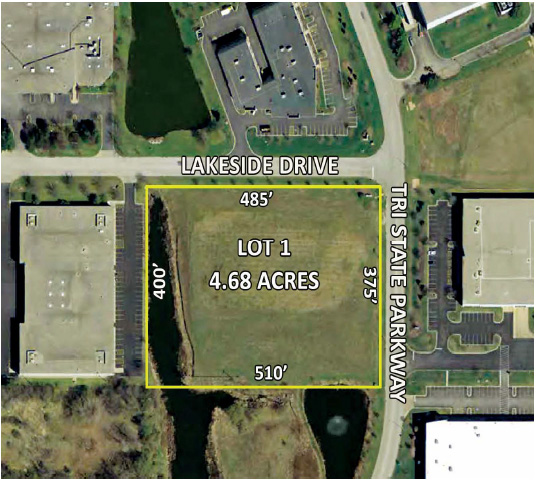 4.68 Acres Lot 1 CenterPoint Ct., Gurnee, IL